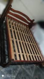 Título do anúncio: cama de casal toda de madeira