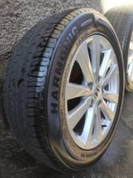 Roda Civic G9 original pneus novos