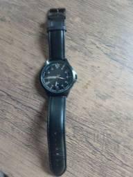 Relógio Lince 4 meses uso de couro com Caixa