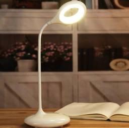 Luminária Abajur de Mesa Sofisticada Flexivel Touch Sem Fio 3 Níveis de Luz 14 Led Luxo