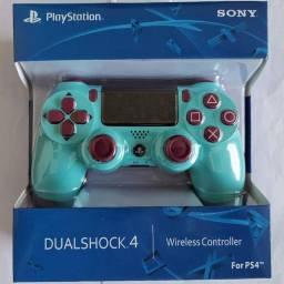 Controle de PS4 light blue novo