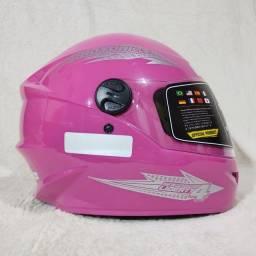 Capacete Moto Rosa Pro Tork New Liberty 4   Tamanhos 58 e 60
