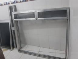 Título do anúncio: Duas janelas de alumínio barato