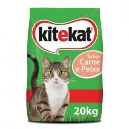 Ração kit cat carne e peixe 20kg