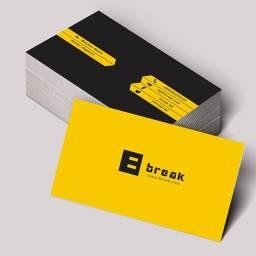 Título do anúncio: cartão de visita 300gr frente e verso