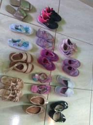 Lote de sapatos de menina tamanho 23/24 em perfeito estado
