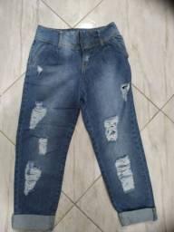 Calça mom jeans nova