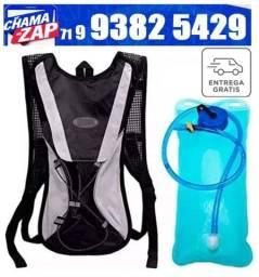 Mochila Hidratação Térmica Impermeável C/Bolsa D`água Bike 2 Litros