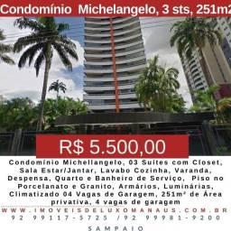 Título do anúncio: Condomínio Michellangelo, 3 suítes 251m2, 4 vagas V.E.N.D.O/A.L.U.G.O