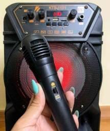 Caixa de som KTS 1131 com controle e microfone