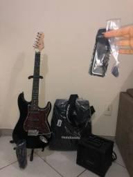 Título do anúncio: Kit Guitarra G-100 C/Escudo Tortoise GIANNINI + Cubo + Acessórios
