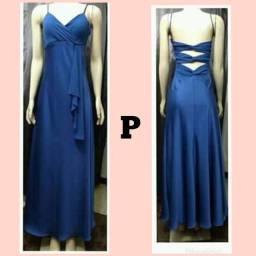 Vestido azul longo tamanha P