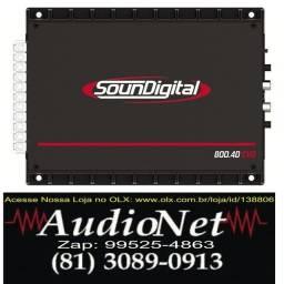Modulo Amplificador Soundigital Sd800 800w Rms 4c Automotivo Carro Som audionet