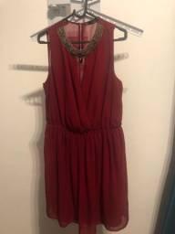 Título do anúncio: Vestido vinho Zara