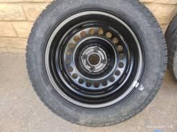 Título do anúncio: Roda completa 185/60 R15 P7 Pirelli