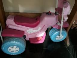 Moto elétrica infantil rosa