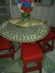 Mesa De Granito Com mosaico