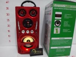 Caixa De Som Ecopower Ep-2126 Sd/usb/fm/bluetooh
