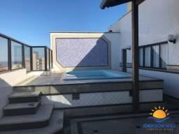 Cobertura Facilitado em 80x, 6 quartos, piscina, sauna, churrasqueira, praia do morro