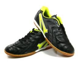 Tenis Mathaus Veneza Futsal Couro preto Original tam:37 ao 44