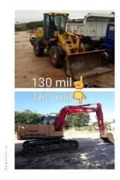 Pá mecânica e Escavadeira