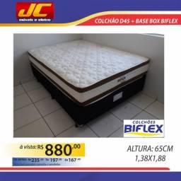 Base box mais colchão biflex muito confortável e na promoção