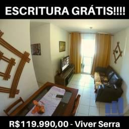 MR- Oportunidade, apartamento de 2Q no Viver Serra com Escritura Grátis