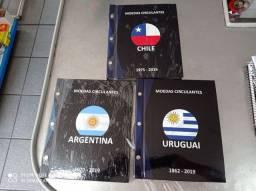 Álbum para moedas , chile , Argentina e Uruguai