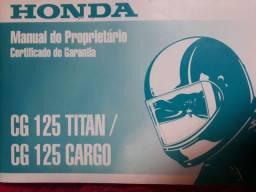 Manual Do Proprietário Honda Cg 125 Titan/ Cg 125 Cargo