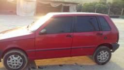 Carro Uno flex 4 portas vermelho 2007/2008