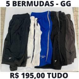 5 - Bermudas Esportivas Tamanho GG