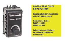 Controlador Dimmer Rotativo 3000w Bivolt. F. 98876.3162