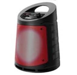 Caixa de Som Portátil Bluetooth Pendrive rádio p2 e p10 modo karaokê