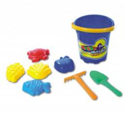 Brinquedos Novos para Praia - Kit balde e acessórios para areia