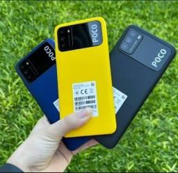 Poco M3 64 GB/4 GB Ram Preto/Azul/Amarelo