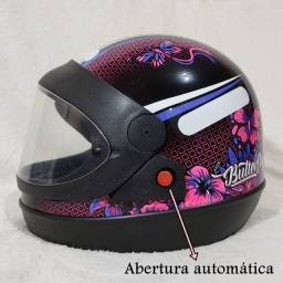 Capacete Moto Feminino Butterfly   Tamanhos 58 e 60