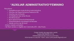 Auxiliar Administrativo - Feminino