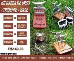 Kit Garra de Urso + Tridente + Base