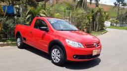 Título do anúncio: Volkswagen saveiro g5 vermelha completa-ar Motor 1.6 ano 2013