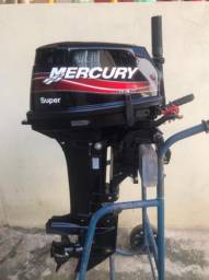MOTOR DE POPA MERCURY SUPER 15HP NOVO