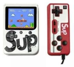 Mini video game portátil 400 jogos retro clássico controle 2 jogadores SUP.