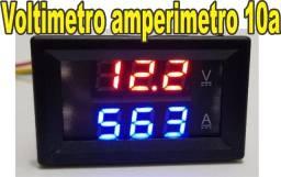 Voltímetro Amperímetro 0-100v 10a Dual Display arduino fita de led carro bateria