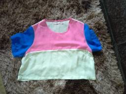 Blusa colorida feminina tamanho M