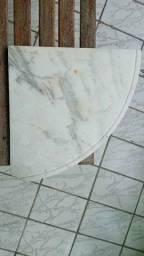 1/4 de mármore em formato circular