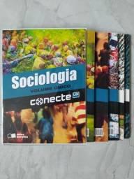Conjunto contendo 05 livros de Sociologia volume único (Conecte)