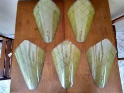 Conjunto de Arandela (s) antigas de vidro para parede! 5 PEÇAS-Raridade!
