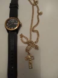Título do anúncio: Relógio magnum original mais cordão