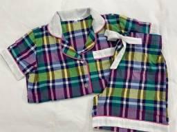 Pijama xadrez menina Afeto Costura