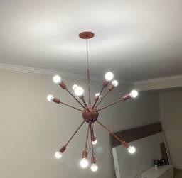 Lustre sputnik com 13 lâmpadas incluídas