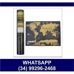 Mapa Mundi Raspadinha 30x40cm